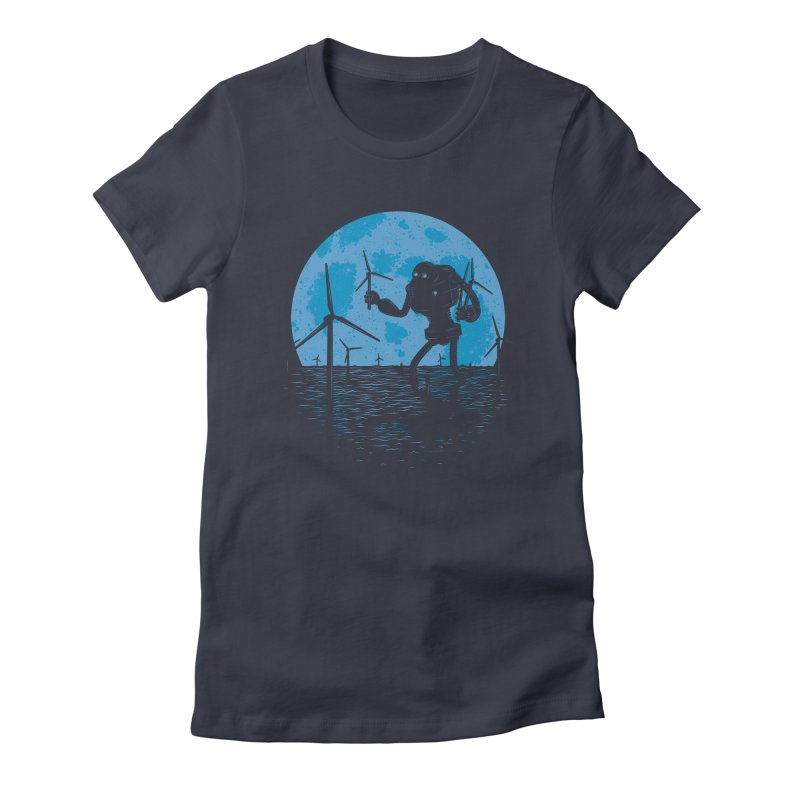 Picking Mechanical Flowers Women's Fitted T-Shirt by heavyhand's Artist Shop