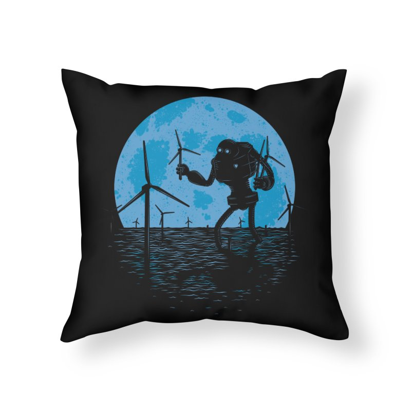 Picking Mechanical Flowers Home Throw Pillow by heavyhand's Artist Shop