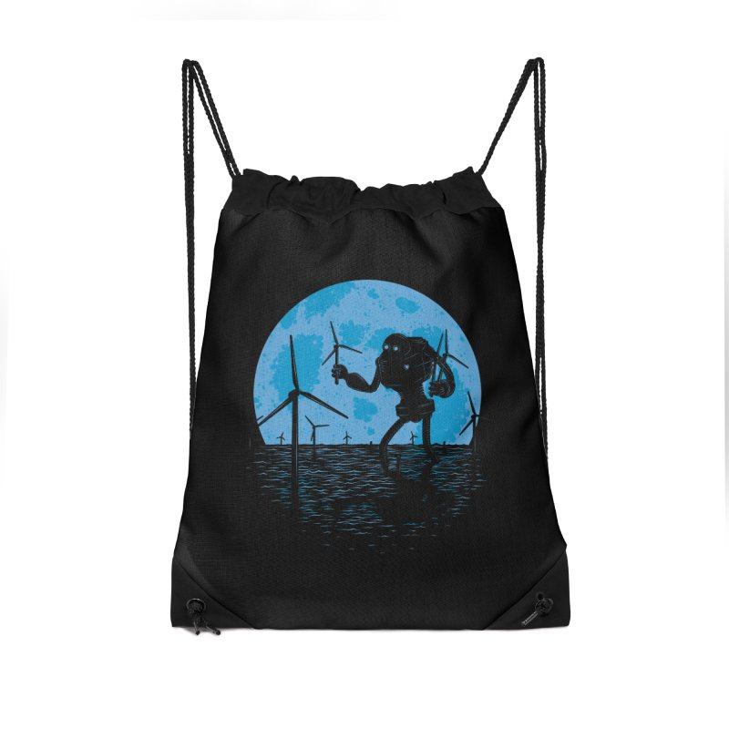 Picking Mechanical Flowers Accessories Drawstring Bag Bag by heavyhand's Artist Shop