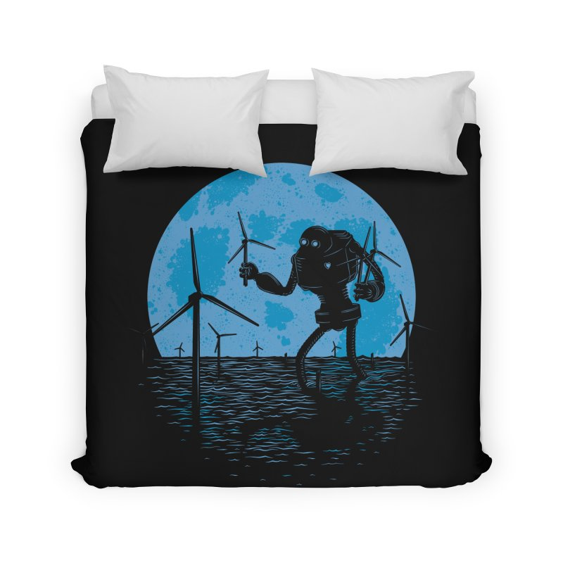Picking Mechanical Flowers Home Duvet by heavyhand's Artist Shop