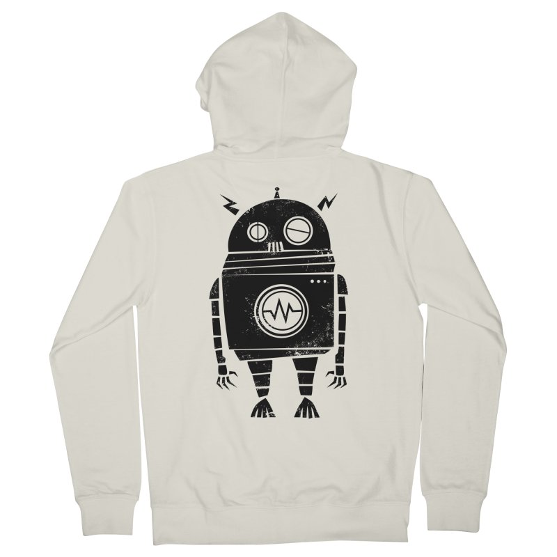 Big Robot 2.0 Men's French Terry Zip-Up Hoody by heavyhand's Artist Shop