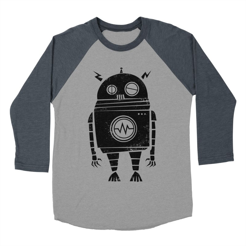 Big Robot 2.0 Men's Baseball Triblend Longsleeve T-Shirt by heavyhand's Artist Shop