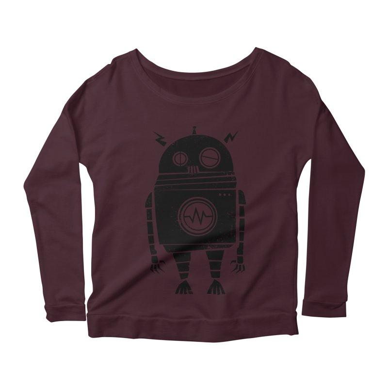 Big Robot 2.0 Women's Scoop Neck Longsleeve T-Shirt by heavyhand's Artist Shop