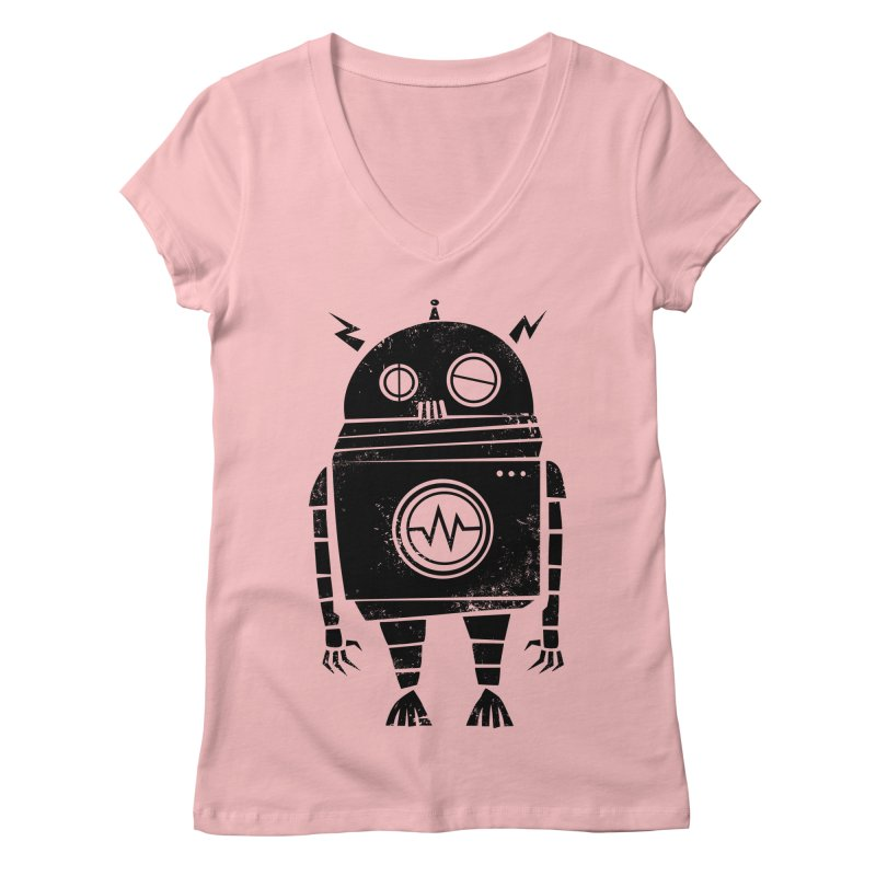 Big Robot 2.0 Women's V-Neck by heavyhand's Artist Shop
