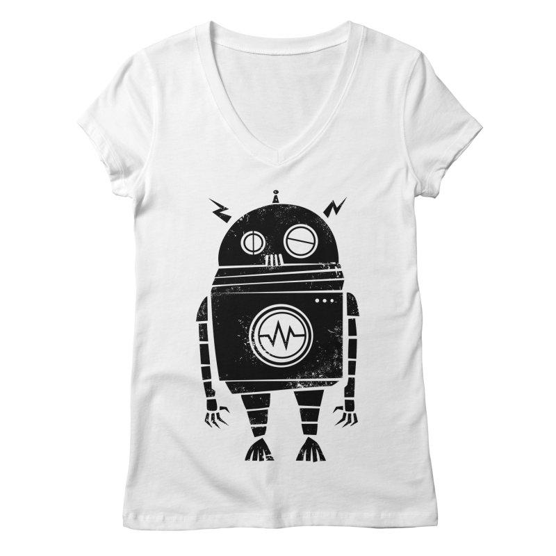 Big Robot 2.0 Women's V-Neck by heavyhand's Artist Shop