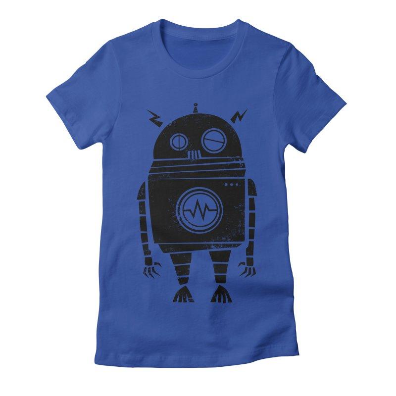 Big Robot 2.0 Women's Fitted T-Shirt by heavyhand's Artist Shop
