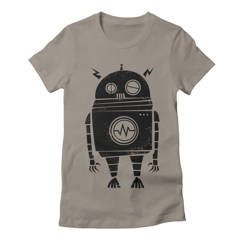 Big Robot 2.0 Women's Fitted T-Shirt by heavyhand's Artist Shop