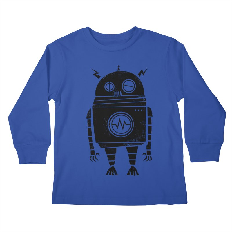 Big Robot 2.0 Kids Longsleeve T-Shirt by heavyhand's Artist Shop
