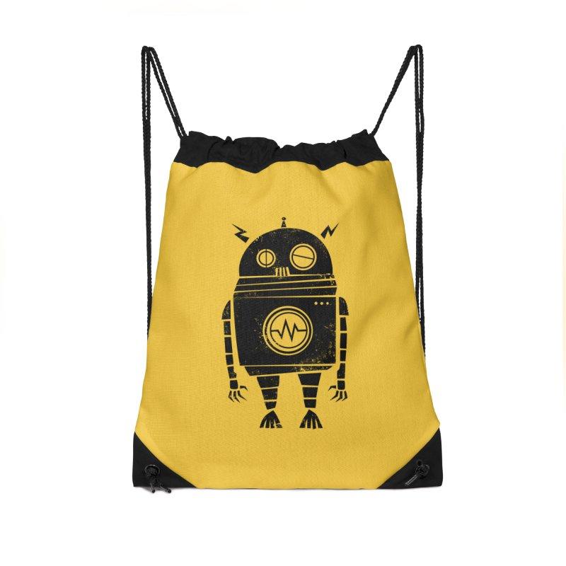 Big Robot 2.0 Accessories Drawstring Bag Bag by heavyhand's Artist Shop