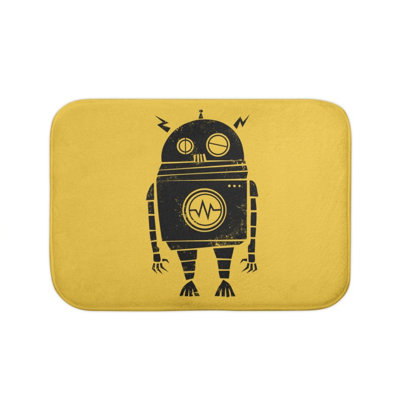 Big Robot 2.0 Home Bath Mat by heavyhand's Artist Shop