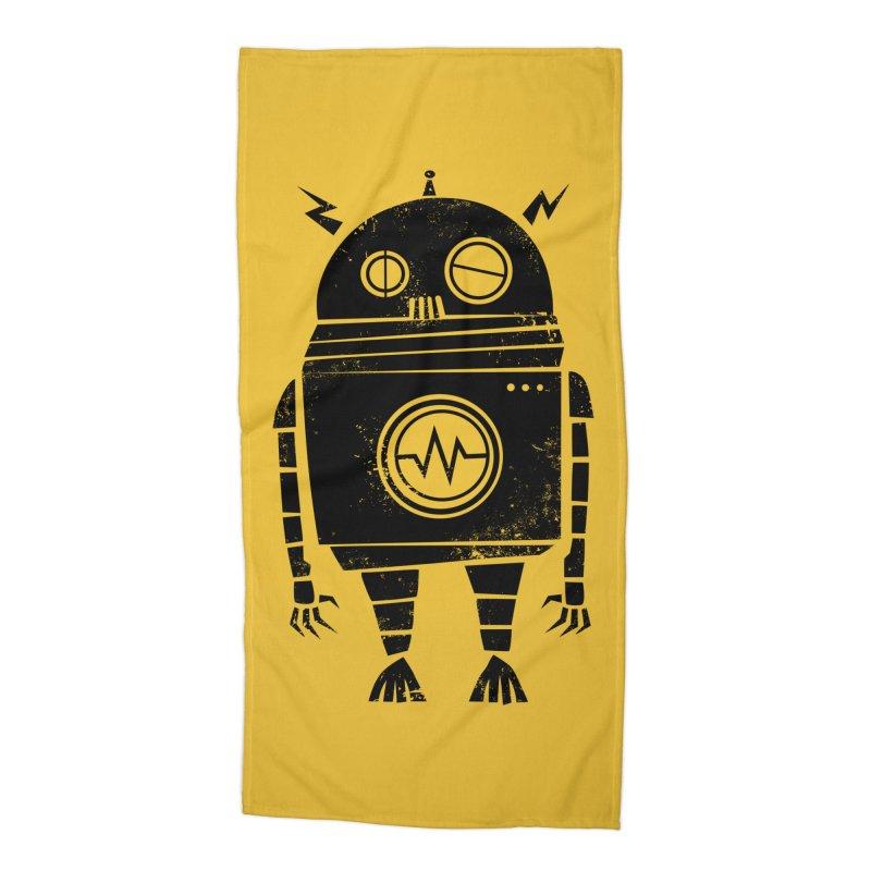 Big Robot 2.0 Accessories Beach Towel by heavyhand's Artist Shop