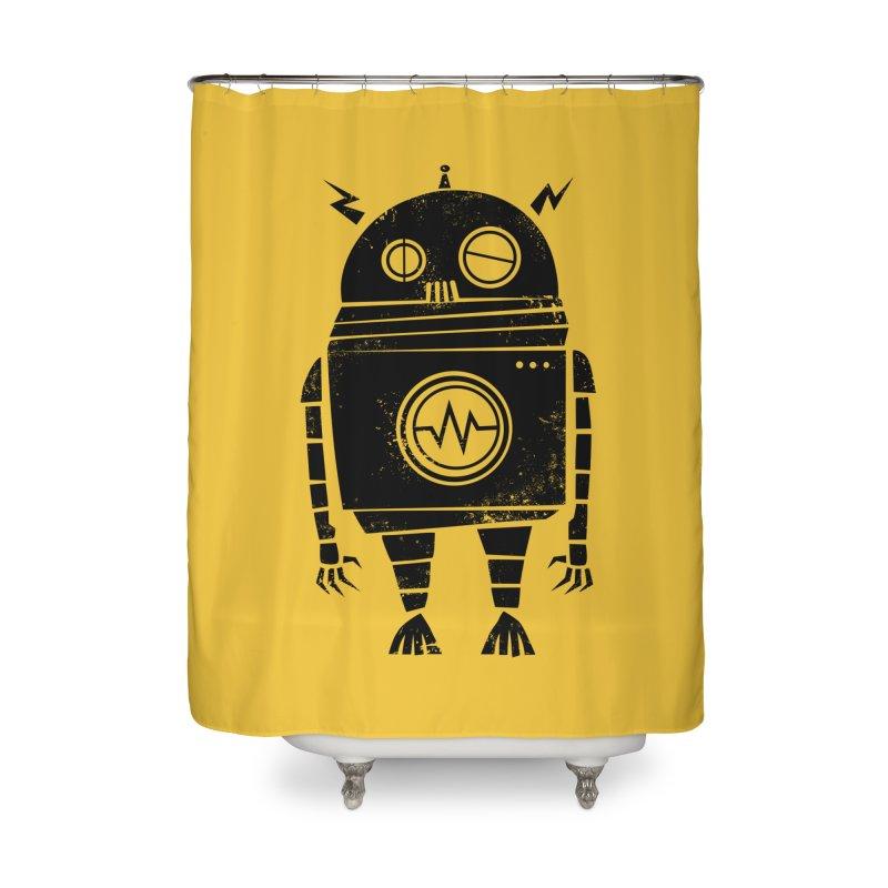 Big Robot 2.0 Home Shower Curtain by heavyhand's Artist Shop