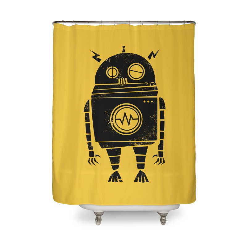Big Robot 2.0 Home Shower Curtain by heavyhand's Artist Shop