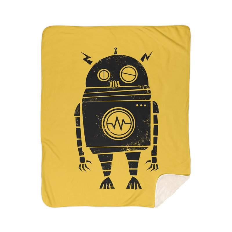 Big Robot 2.0 Home Sherpa Blanket Blanket by heavyhand's Artist Shop
