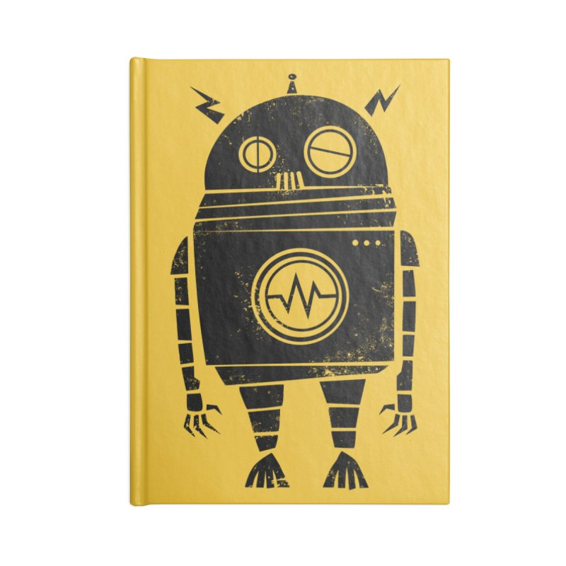 Big Robot 2.0 Accessories Lined Journal Notebook by heavyhand's Artist Shop