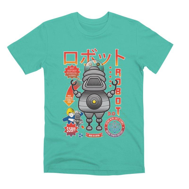 Robot 3.0 Men's Premium T-Shirt by heavyhand's Artist Shop