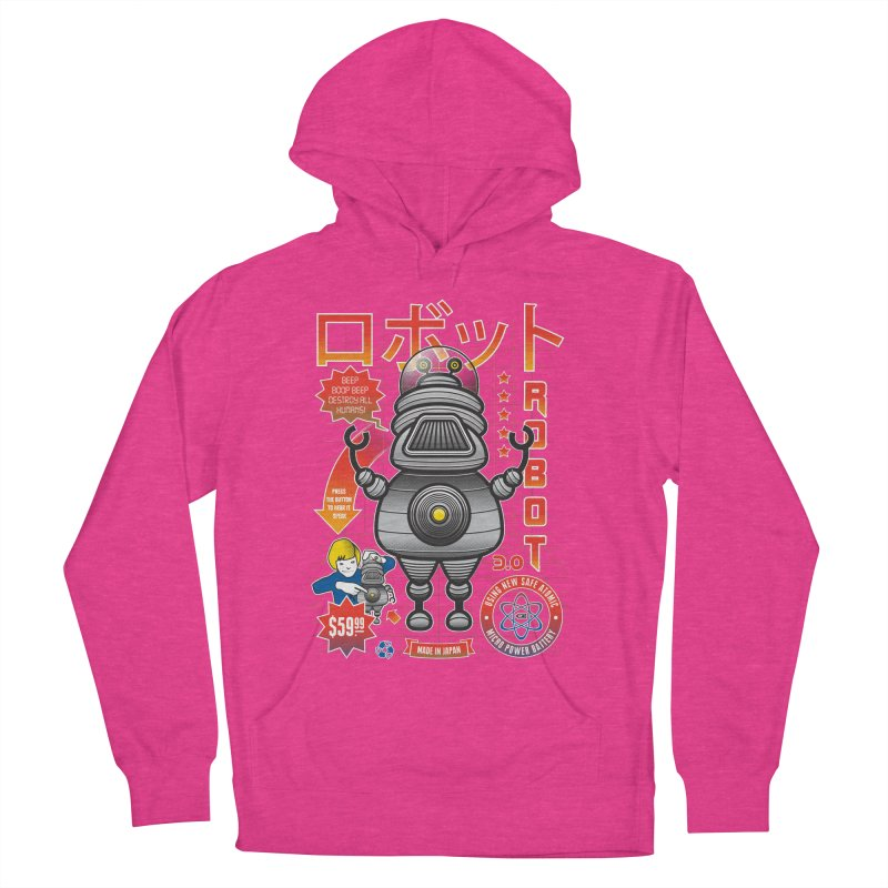 Robot 3.0 Women's French Terry Pullover Hoody by heavyhand's Artist Shop