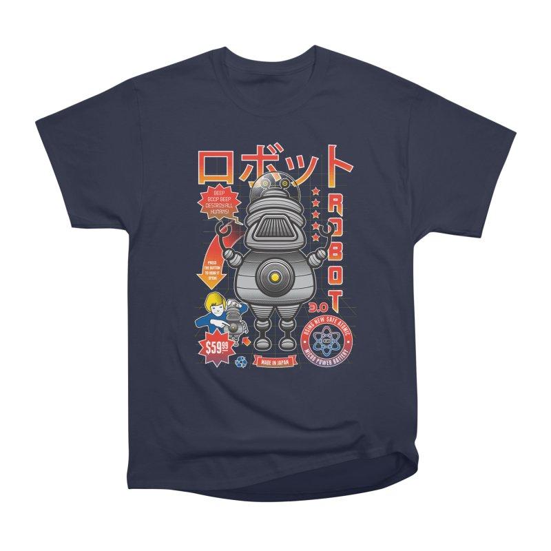 Robot 3.0 Women's Heavyweight Unisex T-Shirt by heavyhand's Artist Shop