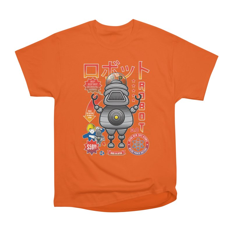 Robot 3.0 Women's Heavyweight Unisex T-Shirt by heavyhand's Artist Shop