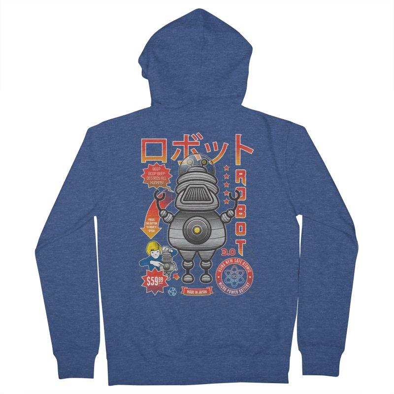 Robot 3.0 Women's French Terry Zip-Up Hoody by heavyhand's Artist Shop