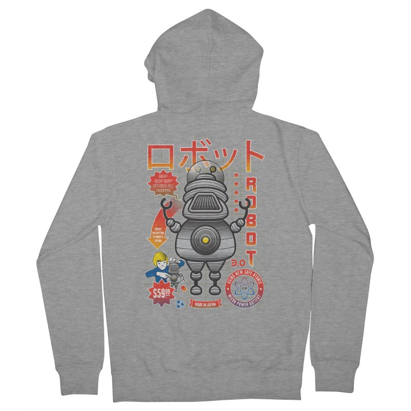 Robot 3.0 Men's French Terry Zip-Up Hoody by heavyhand's Artist Shop