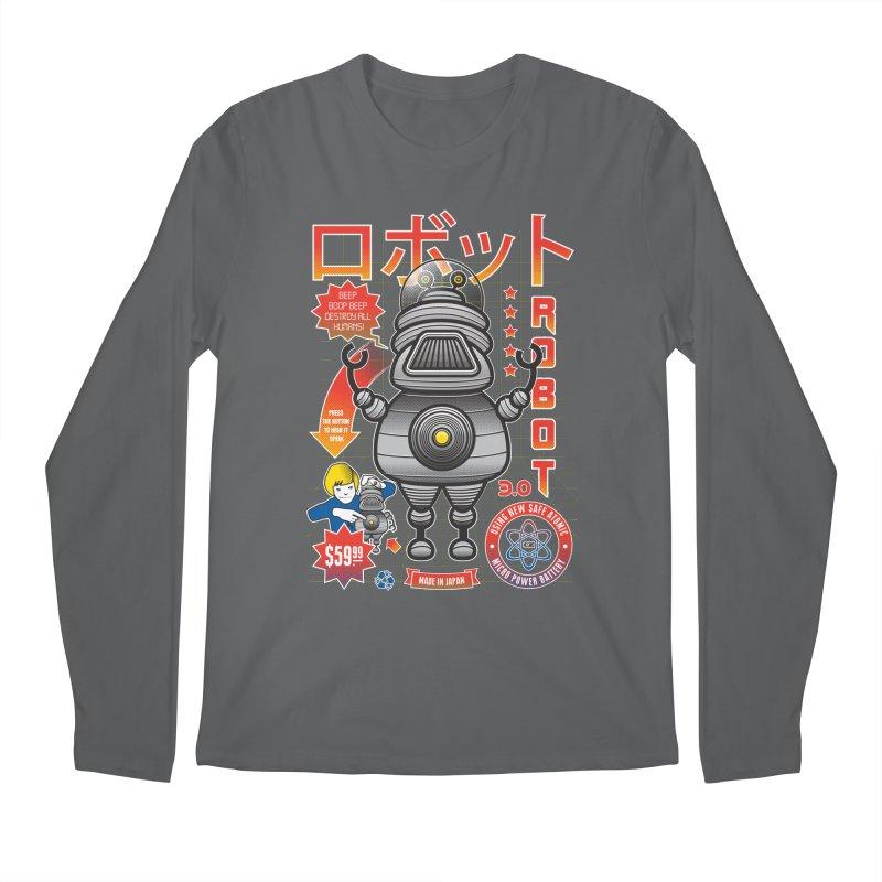 Robot 3.0 Men's Regular Longsleeve T-Shirt by heavyhand's Artist Shop