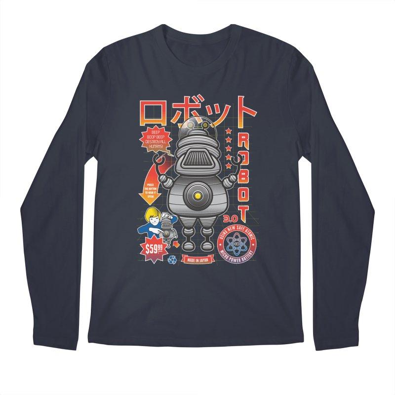 Robot 3.0 Men's Longsleeve T-Shirt by heavyhand's Artist Shop
