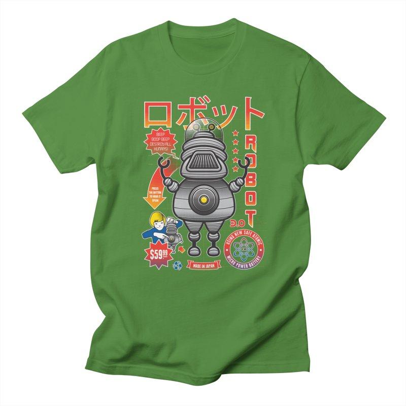Robot 3.0 Men's Regular T-Shirt by heavyhand's Artist Shop