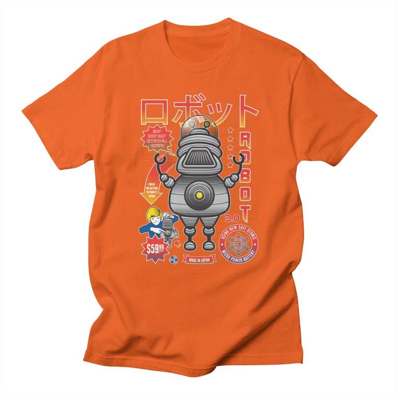 Robot 3.0 Women's Regular Unisex T-Shirt by heavyhand's Artist Shop