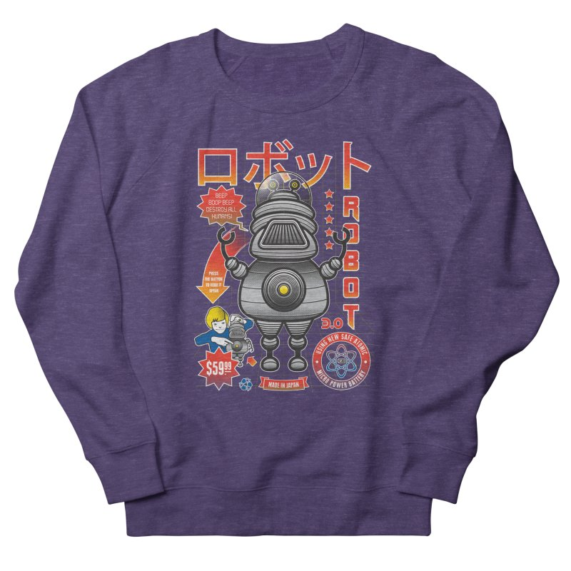Robot 3.0 Women's French Terry Sweatshirt by heavyhand's Artist Shop