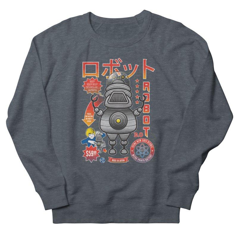 Robot 3.0 Men's French Terry Sweatshirt by heavyhand's Artist Shop