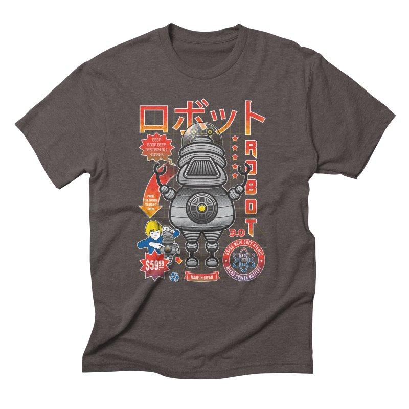 Robot 3.0 Men's Triblend T-Shirt by heavyhand's Artist Shop