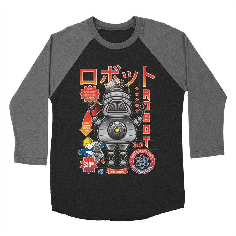 Robot 3.0 Women's Baseball Triblend Longsleeve T-Shirt by heavyhand's Artist Shop