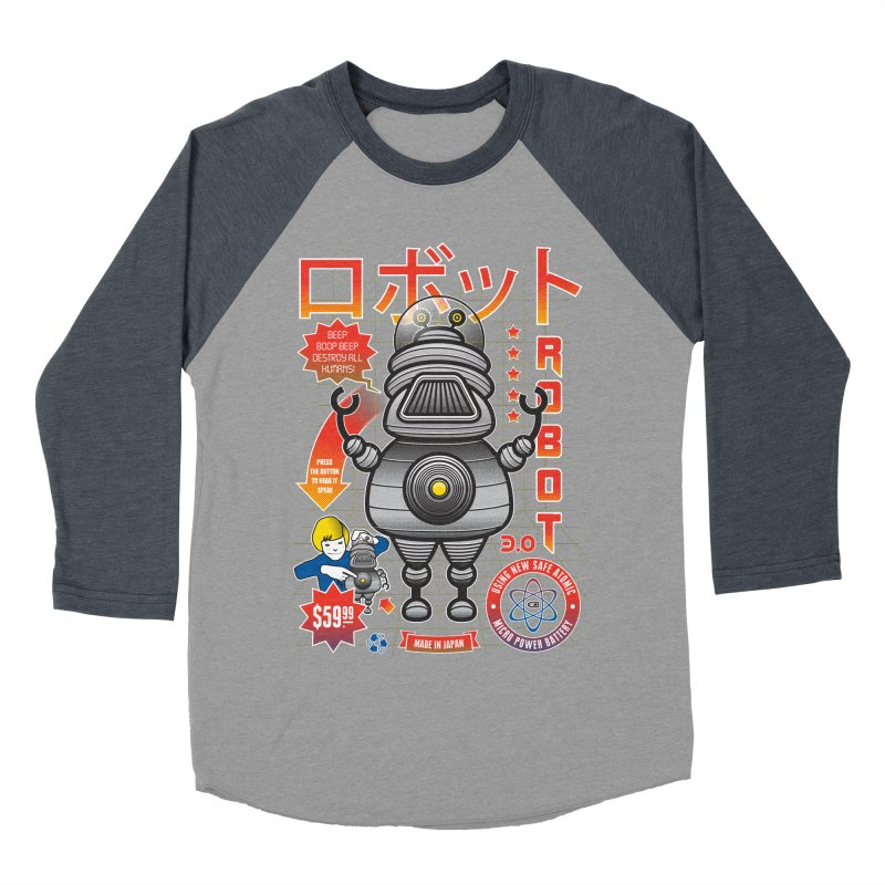 Robot 3.0 Women's Baseball Triblend Longsleeve T-Shirt by heavyhand's Artist Shop