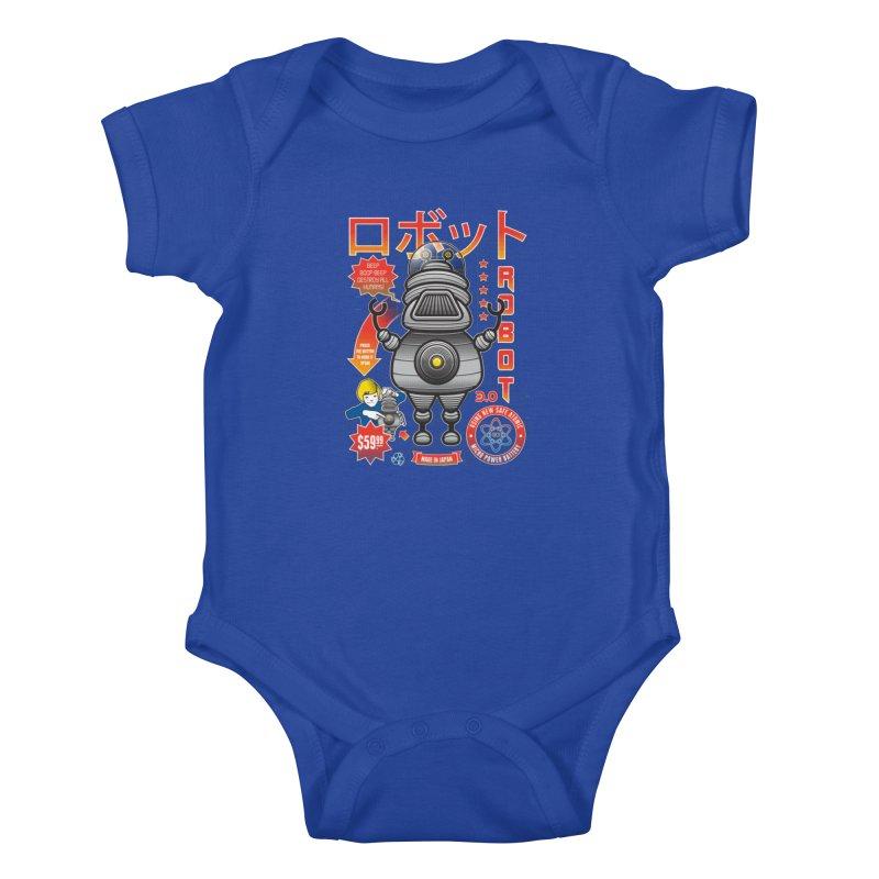 Robot 3.0 Kids Baby Bodysuit by heavyhand's Artist Shop