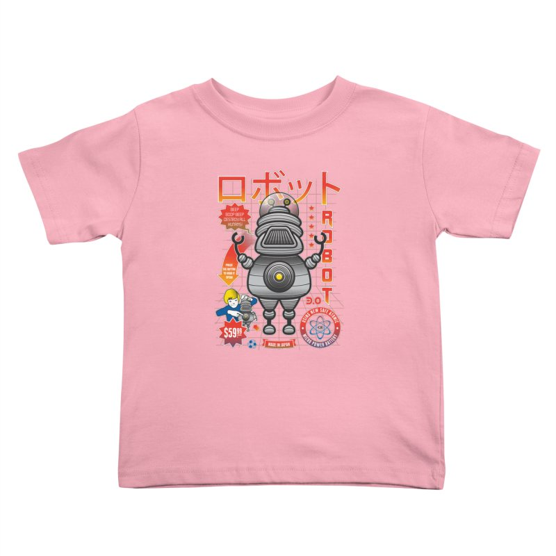 Robot 3.0 Kids Toddler T-Shirt by heavyhand's Artist Shop