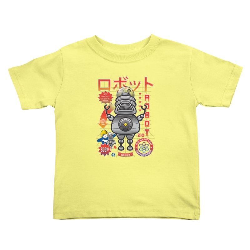 Robot 3.0 Kids Toddler T-Shirt by heavyhand's Artist Shop