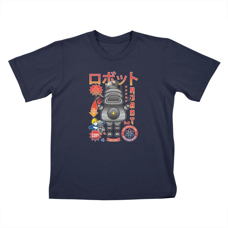 Robot 3.0 Kids T-Shirt by heavyhand's Artist Shop