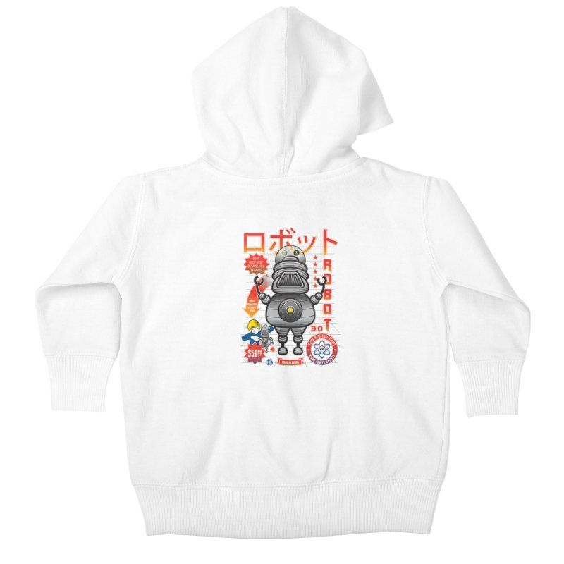 Robot 3.0 Kids Baby Zip-Up Hoody by heavyhand's Artist Shop