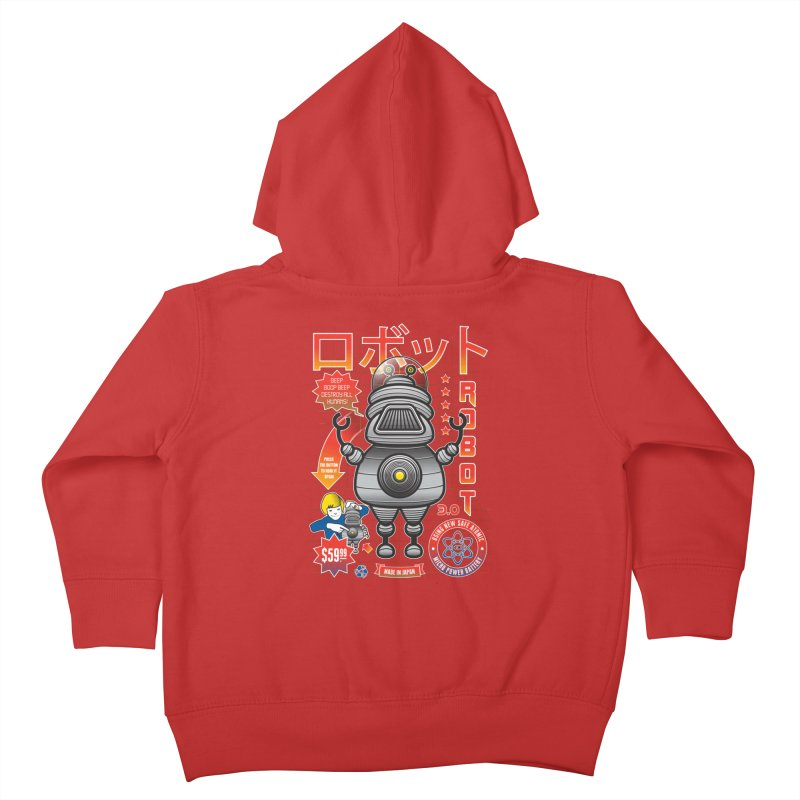 Robot 3.0 Kids Toddler Zip-Up Hoody by heavyhand's Artist Shop