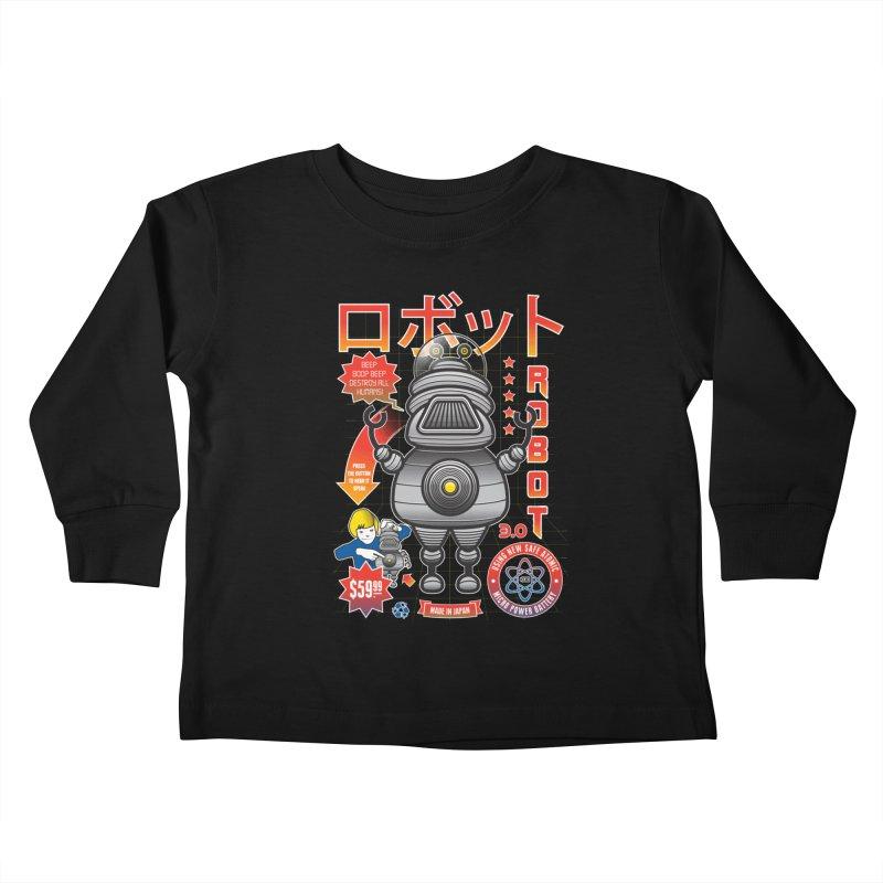 Robot 3.0 Kids Toddler Longsleeve T-Shirt by heavyhand's Artist Shop