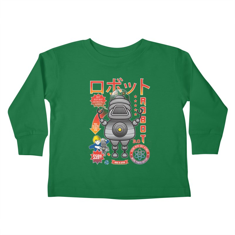 Robot 3.0 Kids Toddler Longsleeve T-Shirt by heavyhand's Artist Shop