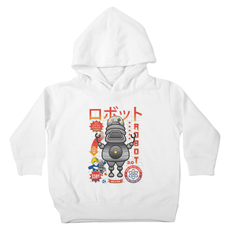 Robot 3.0 Kids Toddler Pullover Hoody by heavyhand's Artist Shop