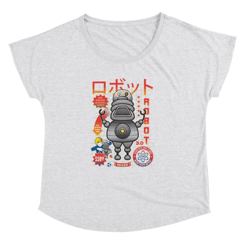 Robot 3.0 Women's Dolman Scoop Neck by heavyhand's Artist Shop