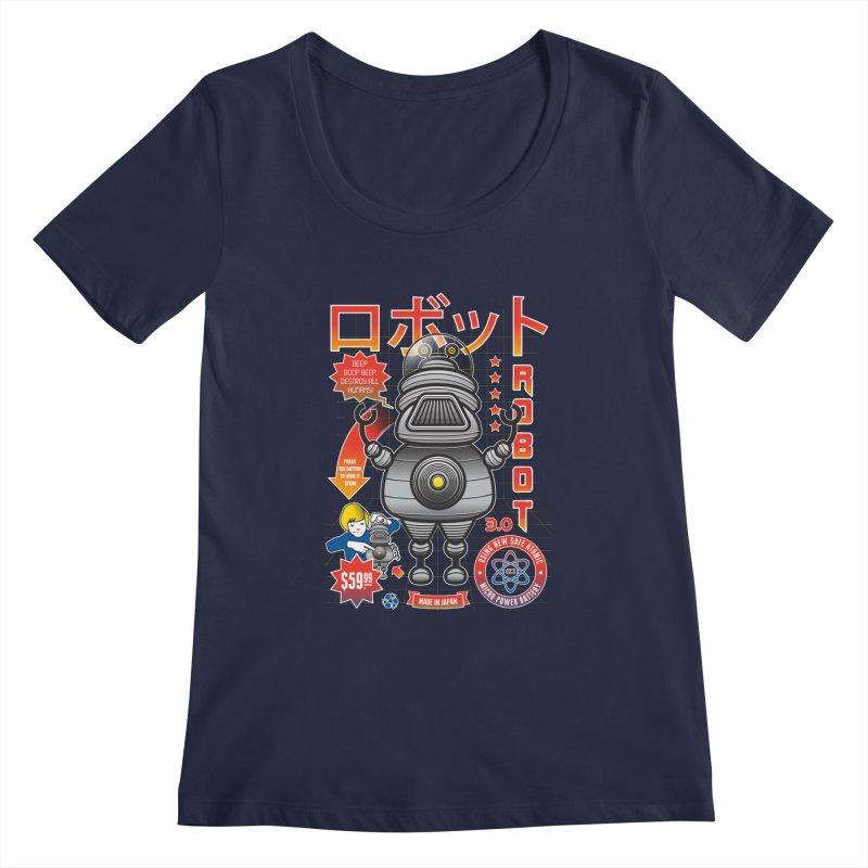 Robot 3.0 Women's Regular Scoop Neck by heavyhand's Artist Shop