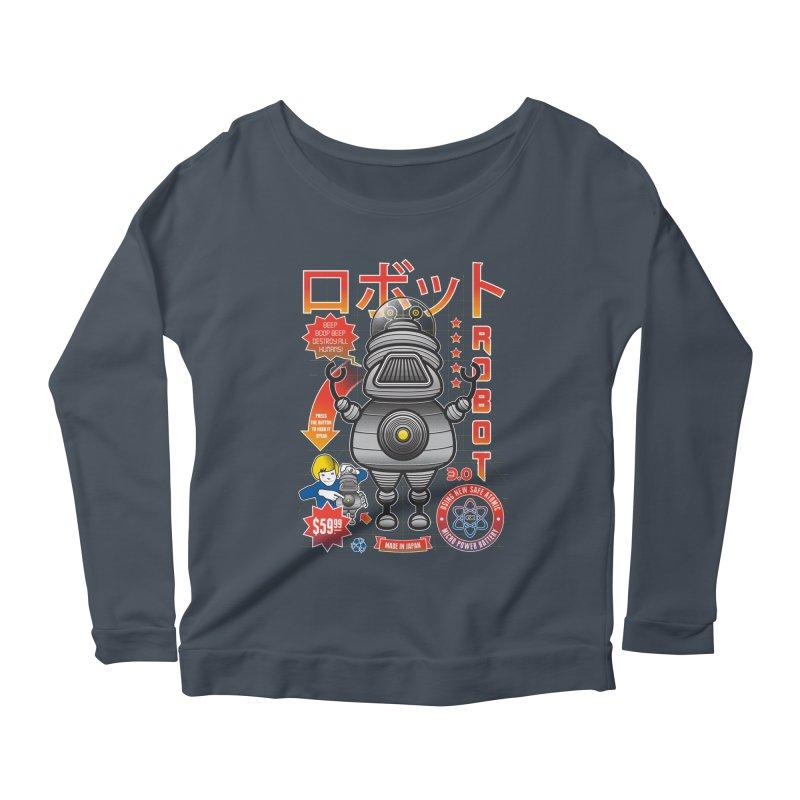 Robot 3.0 Women's Scoop Neck Longsleeve T-Shirt by heavyhand's Artist Shop