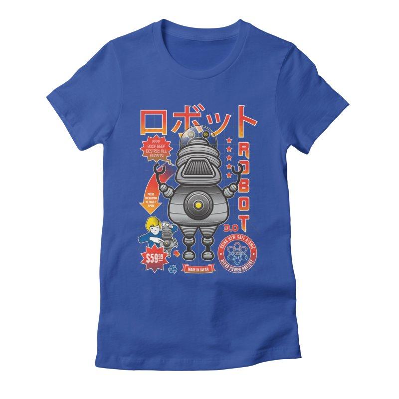 Robot 3.0 Women's Fitted T-Shirt by heavyhand's Artist Shop