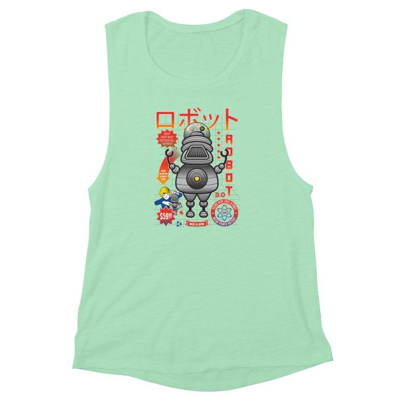 Robot 3.0 Women's Muscle Tank by heavyhand's Artist Shop