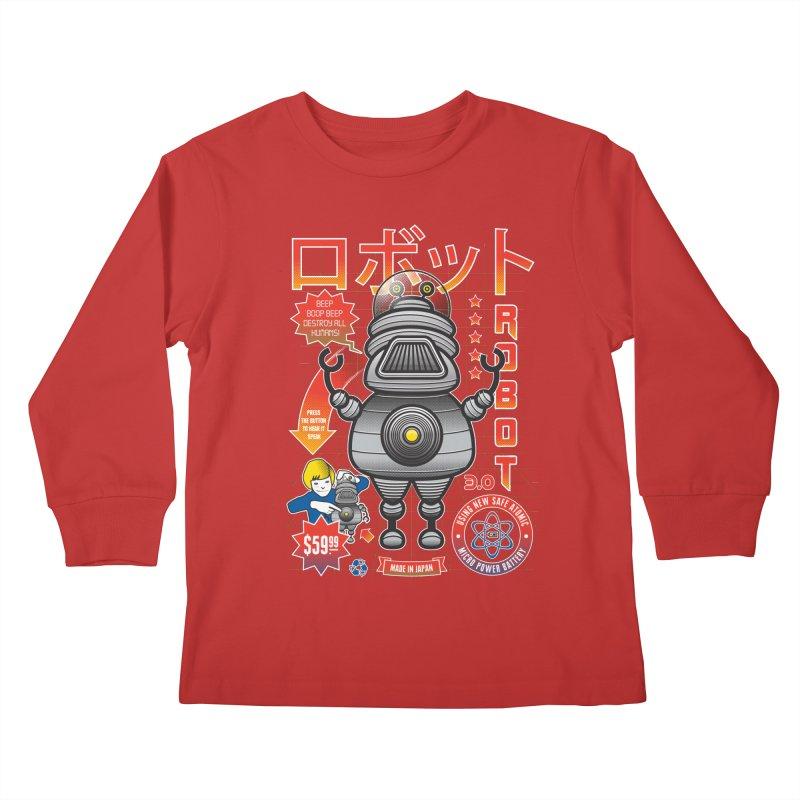 Robot 3.0 Kids Longsleeve T-Shirt by heavyhand's Artist Shop
