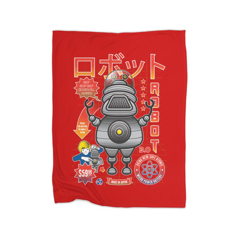 Robot 3.0 Home Blanket by heavyhand's Artist Shop